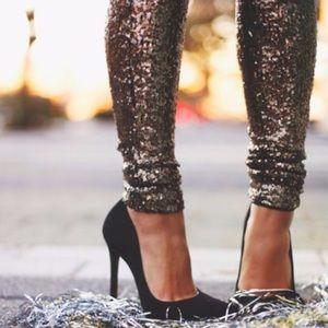 Pants - Bronze sequin leggings